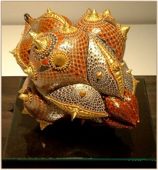 Ornate piece by Tomita Mikiko