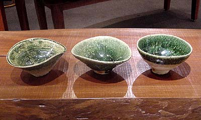 Three Chawan by Koie Ryoji
