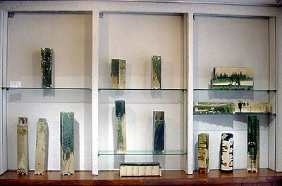 Display case for pieces by Koie Ryoji