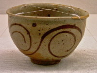E-garatsu Chawan with Fern Design