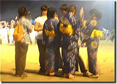 Girls wearing yukata