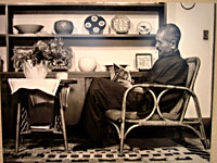 Tomimoto Kenkichi at his home, 1932