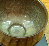 Greenish-blue color vessel by Minegishi Seiko